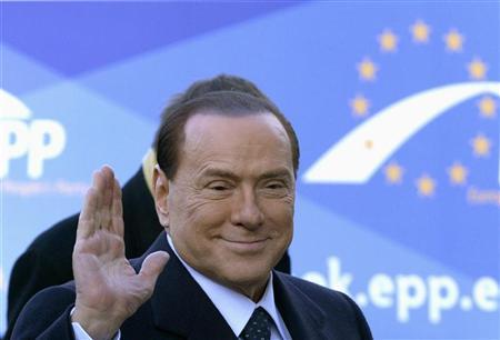 Italy's former Prime Minister Silvio Berlusconi arrives for a meeting of the European People's Party (EPP), ahead of a two-day European Union leaders summit, in Brussels December 13, 2012. REUTERS/Eric Vidal