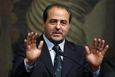 Il leader dell'Italia dei Valori Antonio di Pietro. REUTERS/Tony Gentile