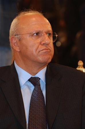 Lebanese government minister Michel Samaha attends a funeral in Beirut in this March 21, 2005 file photo. REUTERS/Mohamed Azakir/Files