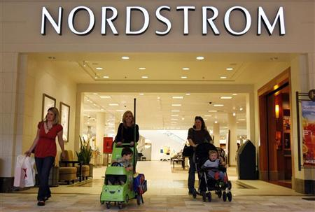 The Nordstrom store is seen at a mall in a Denver suburb May 16, 2008. REUTERS/Rick Wilking