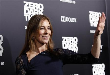 Director and producer of the movie Kathryn Bigelow waves at the premiere of ''Zero Dark Thirty''at the Dolby theatre in Hollywood, California December 10, 2012. The movie opens in the U.S. on January 11. REUTERS/Mario Anzuoni