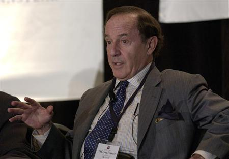 Mort Zuckerman, chairman of the board of directors of Boston Properties, Inc., speaks at the Wharton Economic Summit in New York February 1, 2006. REUTERS/Chip East