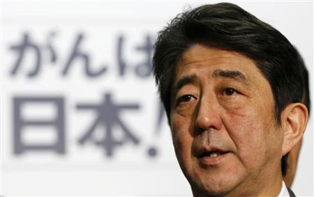 Japan's conservative Liberal Democratic Party's (LDP) leader and next Prime Minister Shinzo Abe speaks to the media at the Parliament in Tokyo December 18, 2012. REUTERS/Toru Hanai
