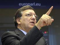 Il presidente della Commissione europea Jose Manuel Barroso. REUTERS/Laurent Dubrule