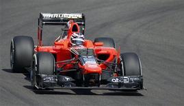 Max Chilton será el cuarto piloto británico presente en la parrilla de salida de la próxima temporada de Fórmula Uno después de que Marussia dijera que el joven de 21 años debutaría en su equipo. En la imagen, de 2 de noviembre, el piloto británico Max Chilton en una sesión de entrenamientos libres en el GP de Abu Dabi. REUTERS/Steve Crisp