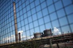 Un'immagine dell'impianto Ilva a Taranto. REUTERS/Yara Nardi