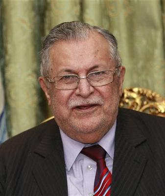 Iraqi president in hospital after suffering stroke