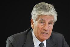 Maurice Levy, PDG de Publicis. Publicis a annoncé mardi l'acquisition de l'agence Monterosa, spécialisée dans la publicité sur les téléphones mobiles. /Photo prise le 12 juin 2012/REUTERS/Mal Langsdon