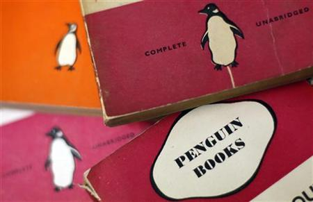 Penguin books are seen in a used bookshop in central London October 29, 2012. REUTERS/Stefan Wermuth/Files