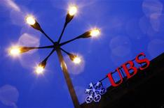 Il logo della banca svizzera UBS al quartier generale di Zurigo. REUTERS/Michael Buholzer