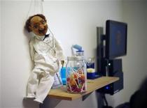 A puppet of a doctor is pictured at the clinic of paediatrician Thomas Fischbach in the western town of Solingen September 4, 2012. REUTERS/Ina Fassbender (GERMANY - Tags: BUSINESS EMPLOYMENT HEALTH)