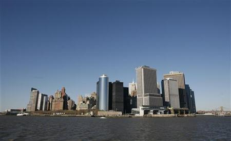 A view of New York's lower Manhattan from the Staten Island Ferry March 10, 2008. REUTERS/Brendan McDermid