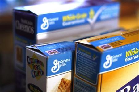 General Mills cereals are displayed on a kitchen counter in Golden, Colorado December 17, 2009. REUTERS/Rick Wilking
