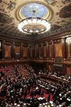 Un'immagine dell'aula del Senato. REUTERS/Alessandro Bianchi