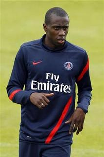 Paris St Germain's Blaise Matuidi attends a training session at the Camp des Loges training center in Saint-Germain-en-Laye, near Paris, July 28, 2011. REUTERS/Benoit Tessier/Files