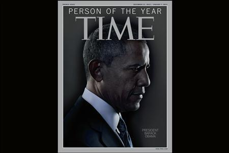 The TIME magazine Person of the Year edition features U.S. President Barack Obama. REUTERS/TIME Magazine/Handout