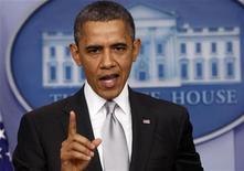 Il presidente Usa Barack Obama alla Casa Bianca, 19 dicembre 2012. REUTERS/Kevin Lamarque