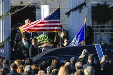 Pall bearers carry the casket of Sandy Hook Elementary School shooting victim Victoria Soto out of the Lordship Community Church after her funeral ceremony in Stratford, Connecticut, December 19, 2012. REUTERS/Lucas Jackson