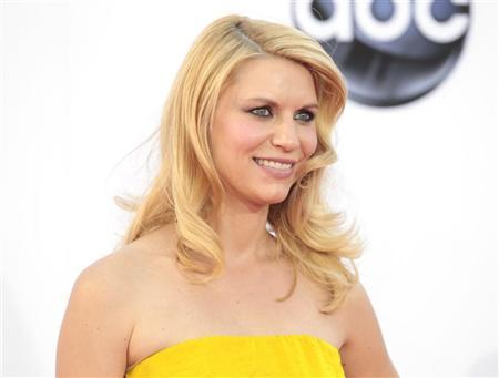 Actress Claire Danes of the drama series ''Homeland'' arrives at the 64th Primetime Emmy Awards in Los Angeles September 23, 2012. REUTERS/Mario Anzuoni