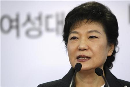 South Korea's conservative President-elect Park Geun-hye speaks during a news conference at the main office of ruling Saenuri Party in Seoul December 20, 2012. REUTERS/Woohae Cho