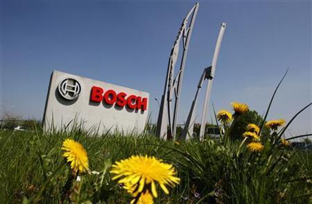 View of the entrance of German automotive parts manufacturer Robert Bosch Belgian plant in Tienen April 21, 2009. REUTERS/Thierry Roge