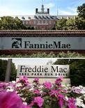 Les organismes de crédit immobilier semi-publics américains Fannie Mae et Freddie Mac pourraient avoir subi des pertes de plus de trois milliards de dollars (2,3 milliards d'euros) à cause de la manipulation du taux Libor, selon un document interne d'un organisme de surveillance que s'est procuré Reuters. /Photos d'archives/REUTERS