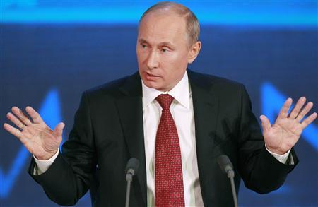 Russia's President Vladimir Putin speaks during his annual news conference in Moscow, December 20, 2012. REUTERS/Maxim Shemetov
