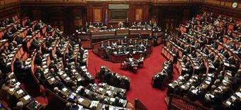 Il Senato della Repubblica in una foto del 17 novembre 2011. REUTERS/Tony Gentile