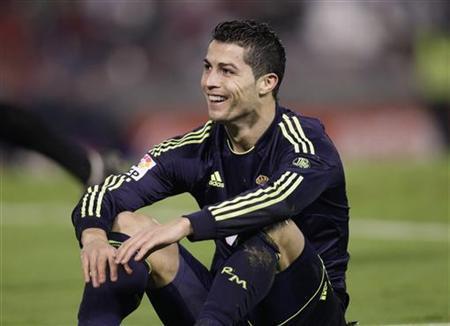 Real Madrid's Cristiano Ronaldo reacts during their Spanish King's Cup soccer match against Celta Vigo at Balaidos stadium in Vigo December 12, 2012. REUTERS/Miguel Vidal