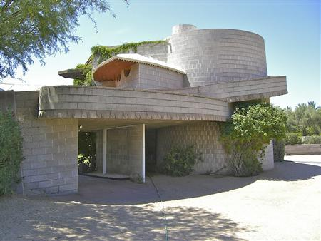 The Frank Lloyd Wright designed house in the Arcadia neighborhood of Phoenix, Arizona, is shown in this undated handout image courtesy of the Frank Lloyd Wright Building Conservancy. REUTERS/Scott Jarson/Frank Lloyd Wright Building Conservancy/Handout