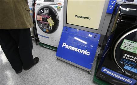 Panasonic Corp logos are seen at an electronics store in Tokyo November 15, 2012. REUTERS/Toru Hanai