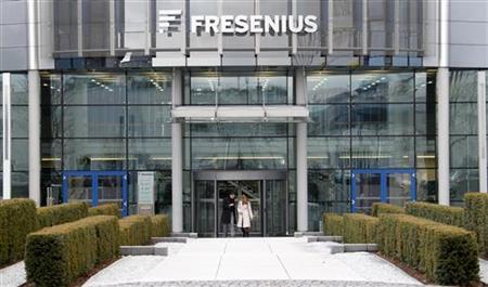 The headquarters of Fresenius is pictured in Bad Homburg near Frankfurt February 24, 2010. Fresenius is a global health care company with products and services for dialysis, hospitals and the medical care of patients at home. REUTERS/Johannes Eisele (GERMANY - Tags: BUSINESS HEALTH)