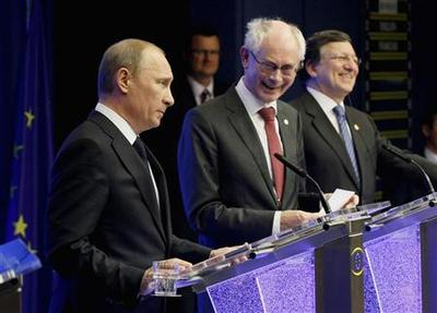 Russian and European leaders trade barbs on energy