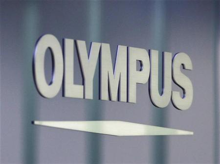 A Olympus Corp logo is pictured at the company headquarters in Tokyo June 19, 2012. REUTERS/Yuriko Nakao