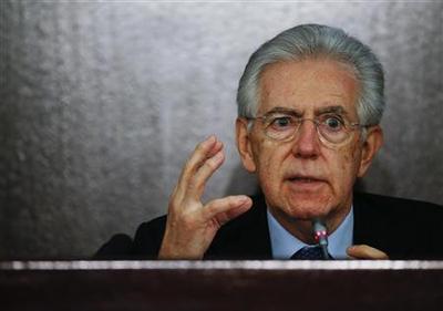 Italy's Monti opens door to seeking new term
