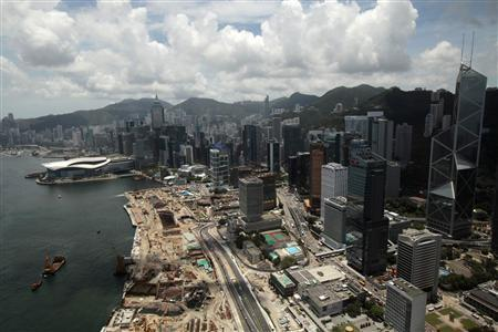 A view of Hong Kong's financial district is seen in Hong Kong in this July 8, 2010 file photo. REUTERS/Tyrone Siu/Files