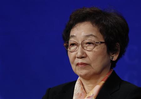 Yoriko Kawaguchi, a member of Japan's House of Councillors, attends the Clinton Global Initiative Asia Meeting in Hong Kong December 2, 2008. REUTERS/Bobby Yip