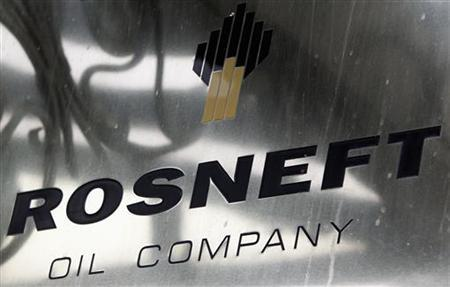 A logo of Russian state oil firm Rosneft is seen at its office in Moscow, October 18, 2012. REUTERS/Maxim Shemetov