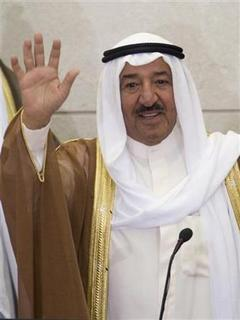 Kuwait's Emir Sheikh Sabah al-Ahmed al-Sabah waves as he enters the National Assembly to open the first session of the 12th National Assembly in Kuwait City June 1,2008. REUTERS/Stephanie McGehee/Files