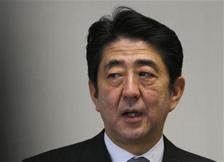 Shinzo Abe, Japan's incoming prime minister and the leader of Liberal Democratic Party (LDP), speaks during a meeting at the LDP headquarters in Tokyo December 20, 2012. REUTERS/Yuriko Nakao