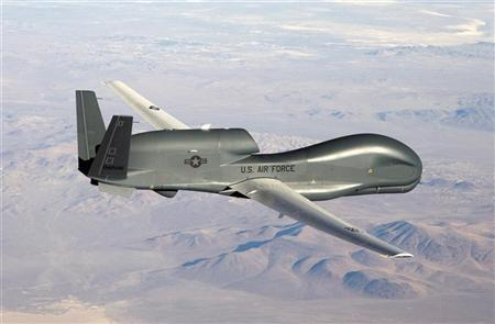 An undated U.S. Air Force handout photo of a RQ-4 Global Hawk unmanned aircraft.REUTERS/U.S. Air Force/Bobbi Zapka/Handout