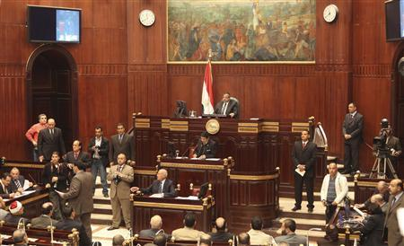 A general view shows the Shura Council during its meeting in Cairo December 26, 2012. REUTERS/Asmaa Waguih