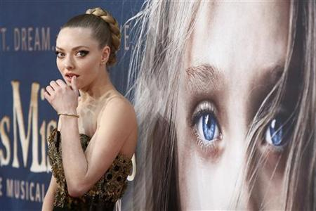 Actress Amanda Seyfried arrives for the premiere of Les Miserables in New York, December 10, 2012. REUTERS/Carlo Allegri