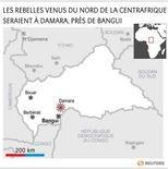 LES REBELLES VENUS DU NORD DE LA CENTRAFRIQUE SERAIENT À DAMARA, PRÈS DE BANGUI