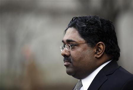 Galleon hedge fund founder Raj Rajaratnam leaves federal court after a hearing in New York March 4, 2011. REUTERS/Jessica Rinaldi/Files