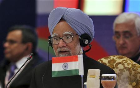 India's Prime Minister Manmohan Singh attends the plenary session of the ASEAN-India Commemorative Summit in New Delhi December 20, 2012. REUTERS/Adnan Abidi