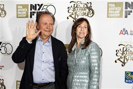 Cast member of The Princess Bride, Billy Crystal, arrives with his wife Janice for a special 25th anniversary viewing of the film during the New York Film Festival in New York, October 2, 2012. REUTERS/Lucas Jackson/Files