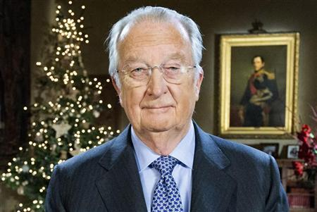 Belgium's King Albert II poses as he delivers his traditional Christmas speech at the Royal Palace in Brussels December 24, 2012. REUTERS/Benoit Doppagne/Pool