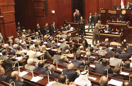 A general view shows the Shura Council during its meeting in Cairo December 26, 2012. The Islamist-dominated upper house of parliament (Shura Council), which now holds legislate power, is meeting for the first time on Wednesday, under the newly-approved constitution. REUTERS/Asmaa Waguih