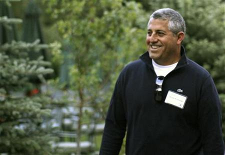 Blake Krikorian, of id8 Group Holdings, arrives at the Sun Valley Inn in Sun Valley, Idaho July 9, 2009. REUTERS/Rick Wilking
